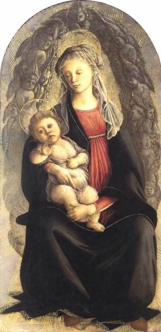 «Мадонна во славе», Сандро Боттичелли — описание картины