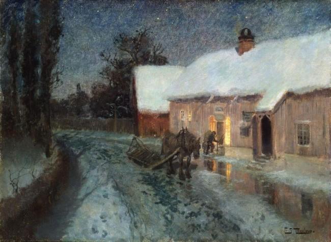 «Ночь», Фриц Таулов — описание картины