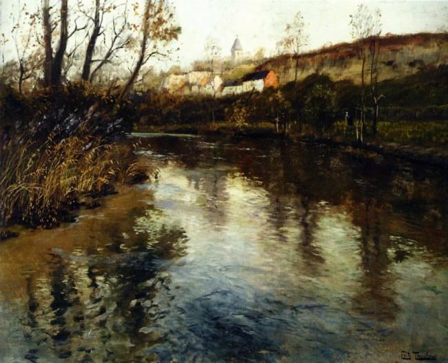 «Речной пейзаж», Фриц Таулов — описание картины