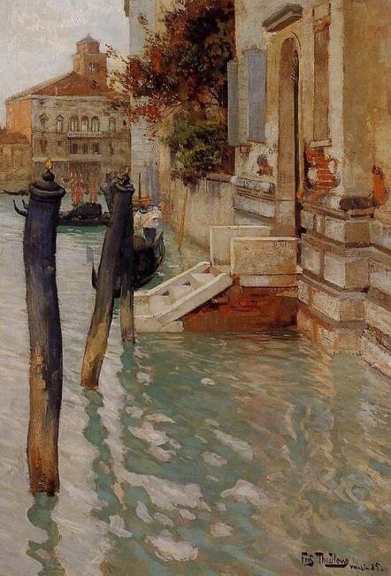 «На Большом канале в Венеции», Фриц Таулов — описание картины