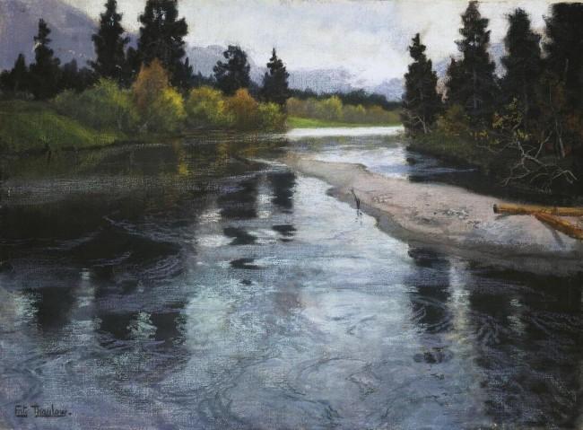 «Река», Фриц Таулов — описание картины