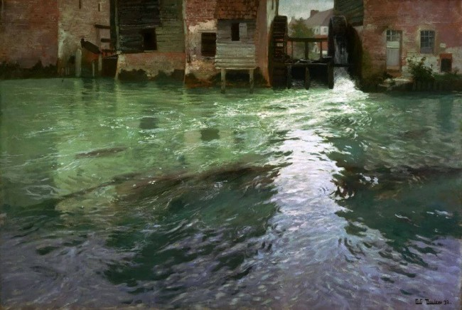 «Водяная мельница», Фриц Таулов — описание картины