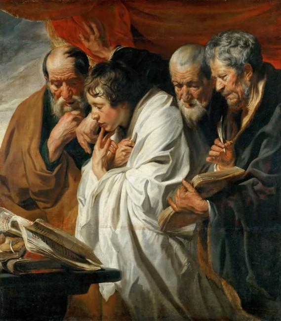 «Четыре Евангелиста», Якоб Йорданс — описание картины