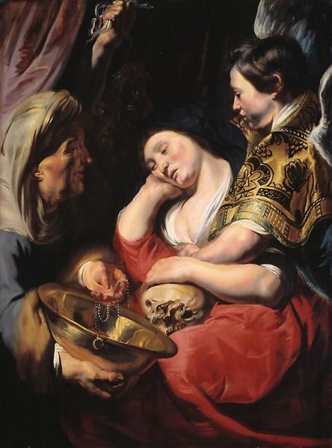 «Искушение Марии Магдалины», Якоб Йорданс — описание картины