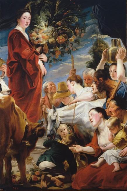 «Подношение Церере, богине урожая», Якоб Йорданс — описание картины