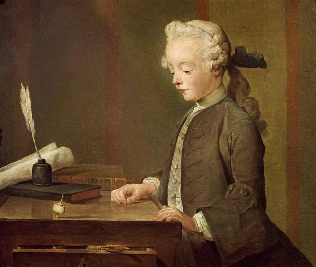 «Мальчик с юлой», Жан Батист Симеон Шарден — описание картины
