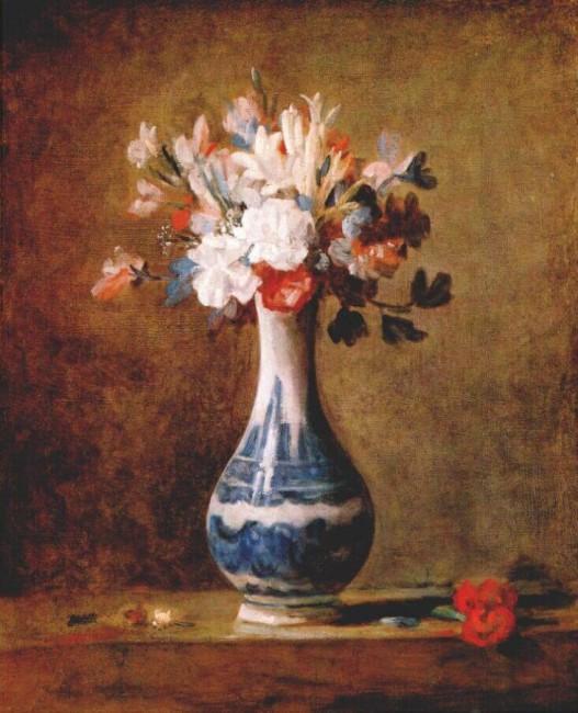 «Цветы в вазе», Жан Батист Симеон Шарден — описание картины