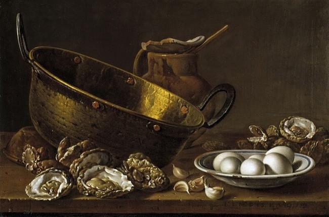 «Натюрморт с устрицами», Луис Мелендес — описание картины