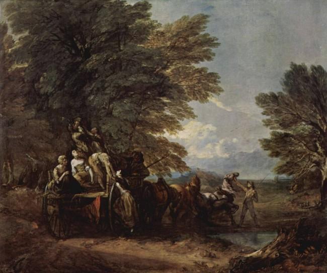 «Собранный урожай, лежащий на повозке», Томас Гейнсборо — описание картины