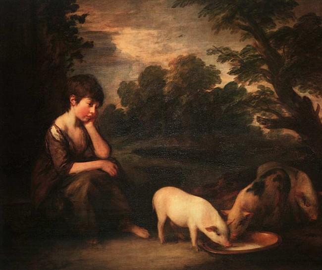 «Девочка со свиньями», Томас Гейнсборо — описание картины