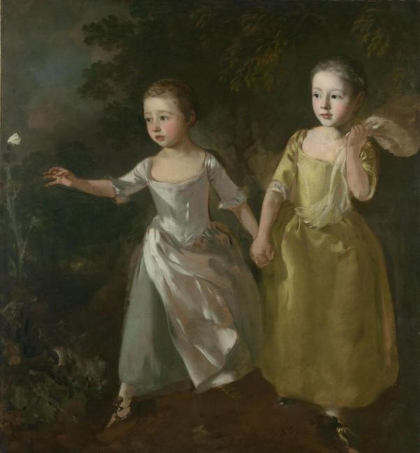 «Дочери художника, бегущие за бабочкой», Томас Гейнсборо — описание картины