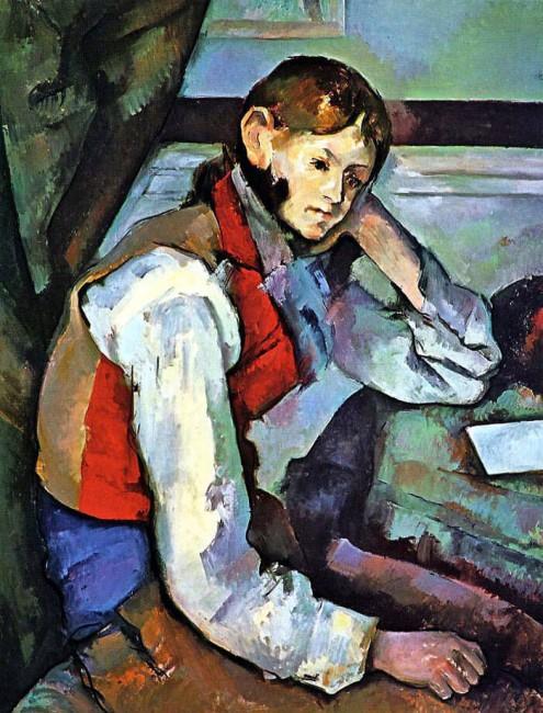 «Мальчик в красном жилете», Поль Сезанн — описание картины