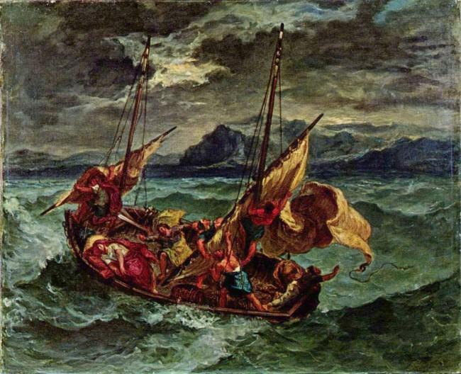 «Христос в Галилейском море», Эжен Делакруа — описание картины