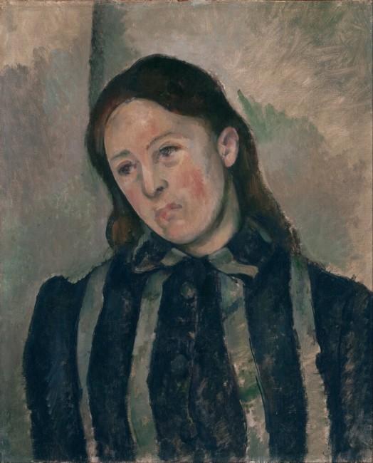 «Мадам Сезанн с распущенными волосами», Поль Сезанн — описание картины