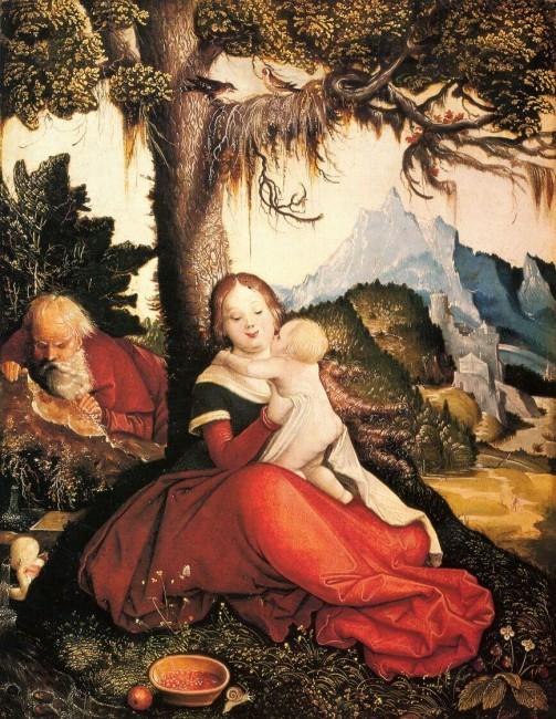 «Святое семейство под открытым небом», Ханс Бальдунг — описание картины