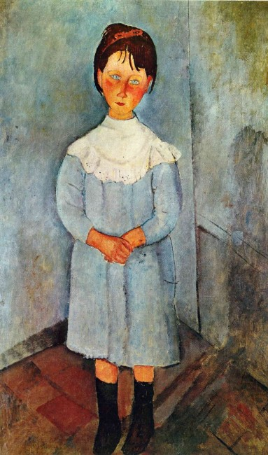 «Девочка в синем», Амедео Модильяни — описание картины