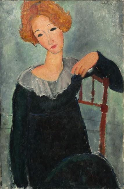 «Рыжеволосая женщина», Амедео Модильяни — описание картины
