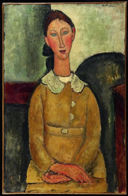 Девушка в желтом платье, Амедео Модильяни — описание картины