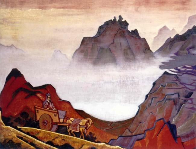 «Конфуций Справедливый», Николай Рерих — описание картины