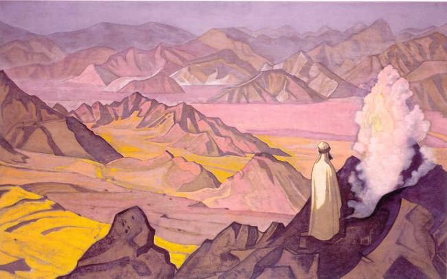 «Магомет на горе Хира», Николай Рерих — описание картины