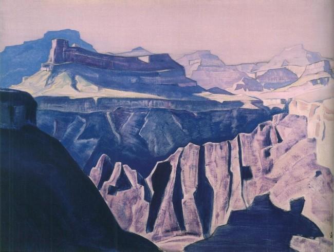 «Синие храмы», Николай Рерих — описание картины