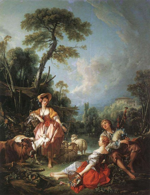 «Летняя пастораль», Франсуа Буше — описание картины