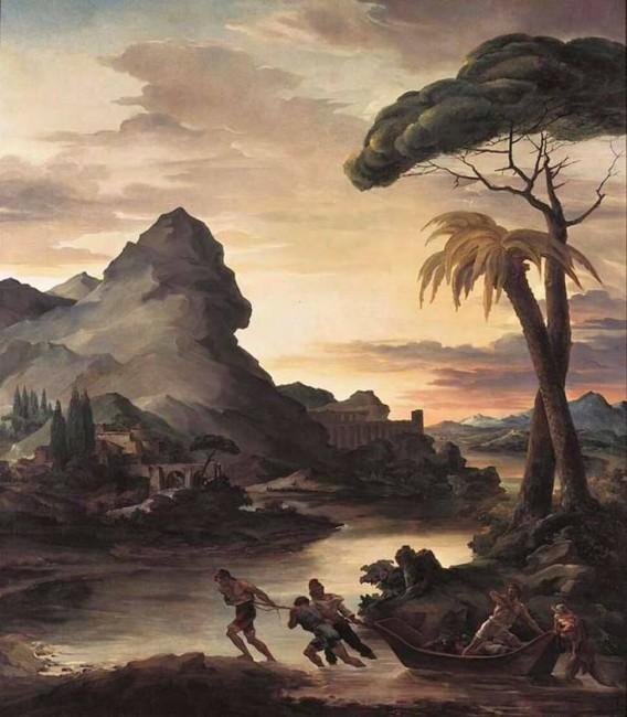«Героический пейзаж с рыбаками», Теодор Жерико — описание картины