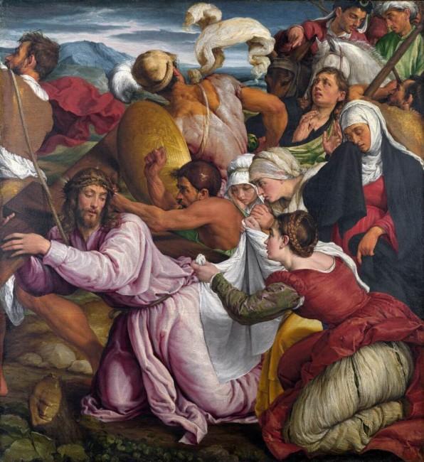 «Путь на Голгофу», Якопо Бассано — описание картины