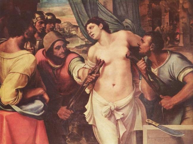«Мученичество Святой Агаты», Себастьяно дель Пьомбо — описание картины