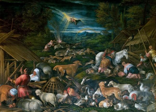 «Ной после выхода из ковчега», Якопо Бассано — описание картины