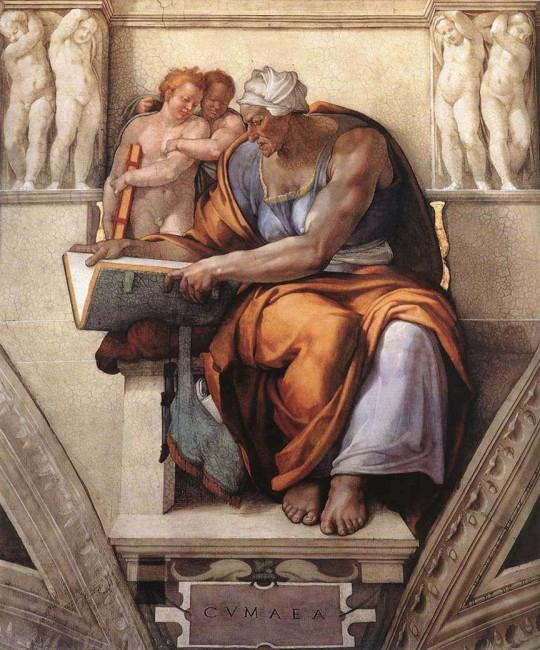 «Кумская сивилла», Микеланджело Буонарроти — описание