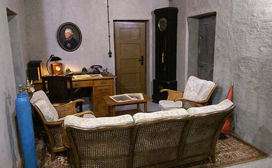 Новый бункер Гитлера, комната с ковром