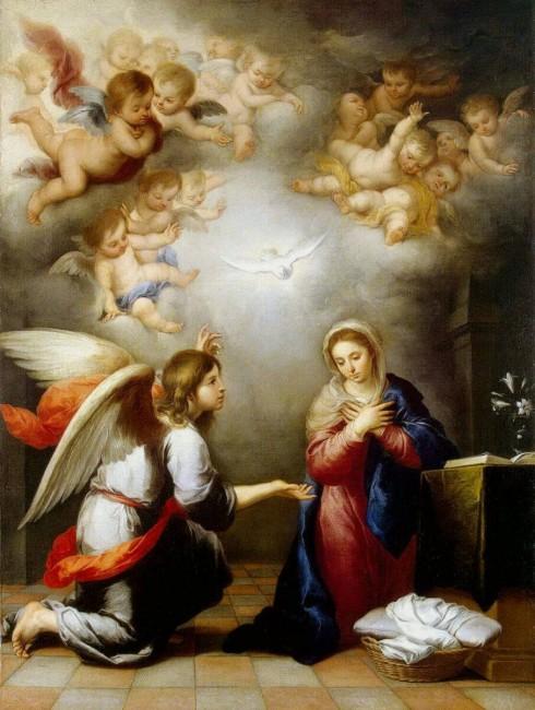 «Благовещение», Бартоломе Эстебан Мурильо — описание картины