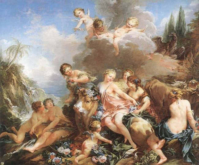 «Похищение Европы», Франсуа Буше — описание картины