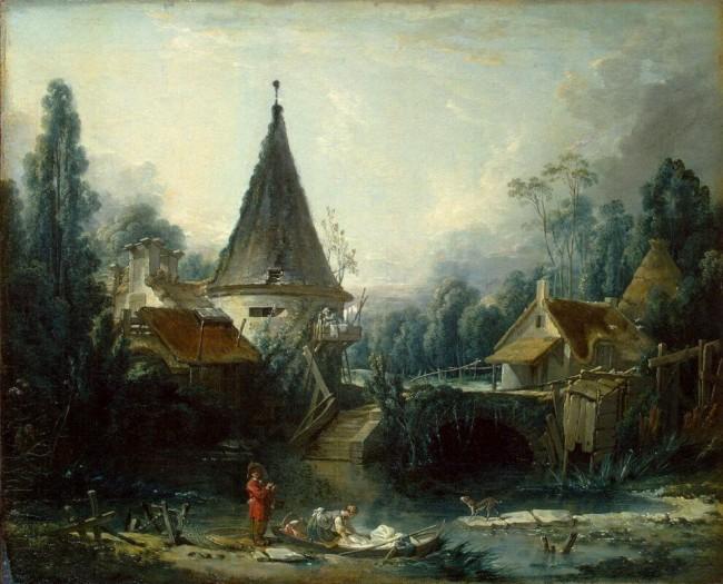 «Пейзаж в окрестностях Бове», Франсуа Буше — описание картины