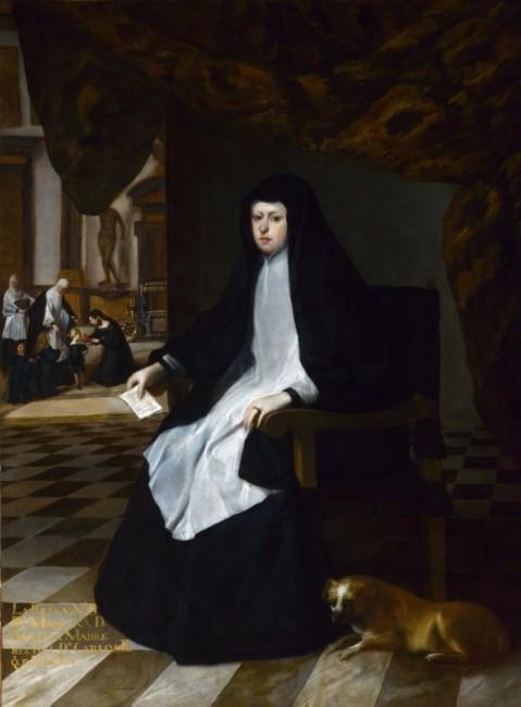 «Королева Марианна скорбит», Хуан Баутиста Мартинес дель Мазо — описание картины