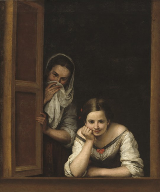 «Две женщины в окне», Бартоломе Эстебан Мурильо — описание картины