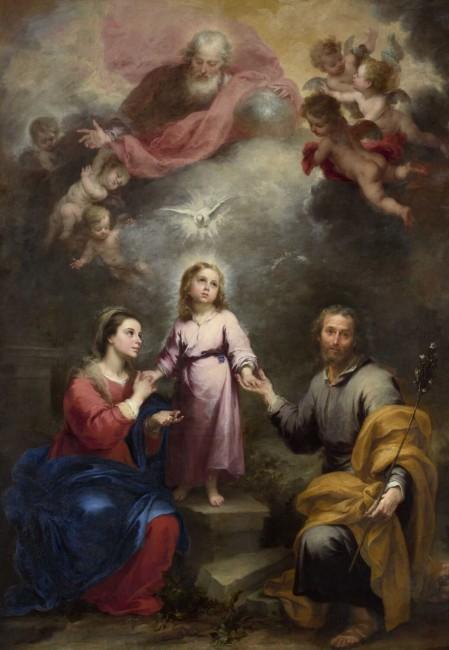 «Две Троицы», Бартоломе Эстебан Мурильо — описание картины