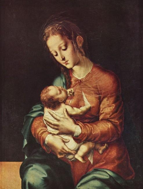«Мария с младенцем», Луис де Моралес — описание картины